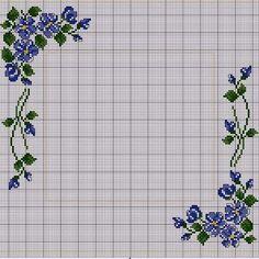 """Милые сердцу штучки: """"...и еще немного незабудок..."""" (обзор дизайнов и схем) Cross Stitch Pillow, Cross Stitch Borders, Cross Stitch Rose, Cross Stitch Flowers, Cross Stitch Charts, Cross Stitch Designs, Cross Stitching, Cross Stitch Embroidery, Embroidery Patterns"""
