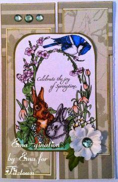 EMA-gination: Bunny Blog Hop for Fitztown, Morgan Fitzsimons, digital stamp, freebie, blog hop, prize, handmade card, Copic