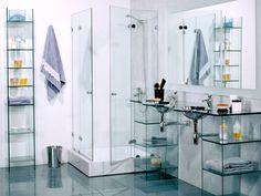 muebles de cristal para banos