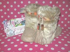 New Mudd Faux Fur Suede Moccasin Boot Bootie Sleep House Slippers 7 8 Med M | eBay