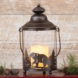 New Cabin Decor at Black Forest Decor Black Bear Decor, Black Forest Decor, Flickering Lights, Metal Lanterns, Decoration, Candle Holders, Candles, Rustic, Glass