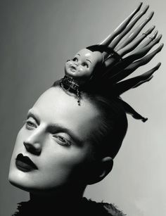 Sølve Sundsbø :: Guinevere Van Seenus wearing Myra, a hat designed by Stephen Jones