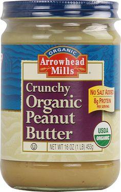 Arrowhead Mills Crunchy Organic Peanut Butter