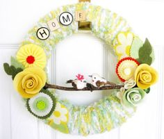 Spring time wreath