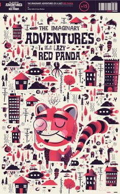 The Imaginary Adventures of a Lazy Red Panda by El Diablo, via Behance