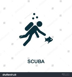Creative sign from icons collection. Filled flat Scuba icon for computer and mobile. Illustration Sketches, Graphic Illustration, Vector Graphics, Vector Icons, Scuba Tattoo, Icon Collection, Symbol Logo, Royalty Free Stock Photos, Symbols