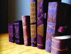 Leather Longstitch Spines