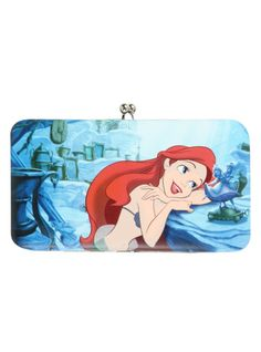 Disney The Little Mermaid Kisslock Hinge Wallet | Hot Topic my son just bought me this tonight