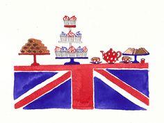 Union Jack & Tea - how about this one next? Illustrations, Illustration Art, Union Jack Cake, Pop Art, Tea Party Theme, Union Flags, Cuppa Tea, Art Design, Vintage Advertisements