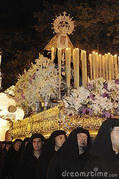 A procession for Holy Week in Nerja (Spain) - Una processione in occasione della Settimana Santa in Nerja (Spagna)