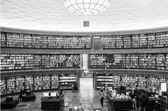 Stockholm Public Library, Gunnar Asplund, 1920s, Stockholm Sweden