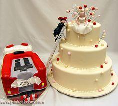 @KatieSheaDesign ♡♡ #KDC #Fav ♡♡   #Cake Firefighter wedding cake--Isn't this terrific?