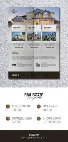 Real Estate Flyer Template PSD. Download here: https://graphicriver.net/item/real-estate/17108091?ref=ksioks