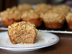 Better-For-You Banana Muffins (omitted walnuts, added chocolate chips)