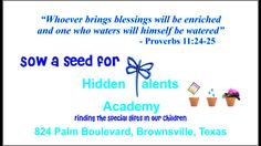 Sow a Seed for Autism by Lana De Leon