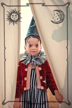 Circus by Anastasia Kurbatova for kids 2016 Circus Theme, Circus Party, Night Circus, Dress Up Costumes, Baby Costumes, Clown Costumes Kids, Fashion Design For Kids, Kids Fashion, Holiday Fashion