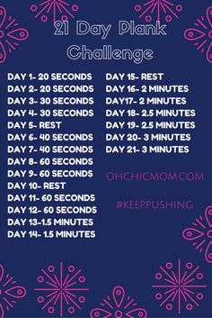 21 DAY PLANK CHALLENGE