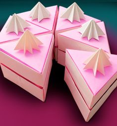 origami cake: great for putting favors in it!