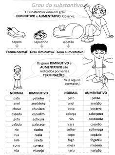 PLANO DE AULA - Grau dos substantivos: aumentativo e diminutivo Objetivos 1) Conhecer os mecanismos lingüísticos para a formação ...