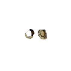 Metallic, geometric, raw pyrite stud earrings. Gold fill posts and backs.  PYRITE is a powerful stone that carries with it a masculine energy. It has  the ability to increase vitality and confidence while stimulating the flow  of ideas, helping one to realize their own potential. Pyrite draws energy  from the Earth to create a shield against negative energies.  Materials are unique and hand-selected, so expect slight variations from  the featured photo, but with the same overall…