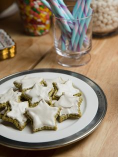Pistachio Stars Recipe from Food Network- Baked in Vermont Baked In Vermont, Food Network Recipes, Food Processor Recipes, Pistachio Cookies, Meringue Cookies, Stars Recipe, Star Cookies, Star Food, Christmas Baking