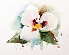SEGO LILY Watercolor Floral print by Dean Crouser by DeanCrouserArt on Etsy
