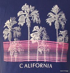 Vintage 80's California t shirt large. $24.99, via Etsy.