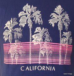 Vintage 80's California t shirt large. $24.99, via Etsy.