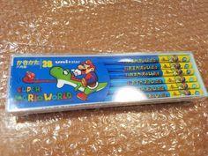 Super Mario World pencils Japan UNI STAR Nintendo