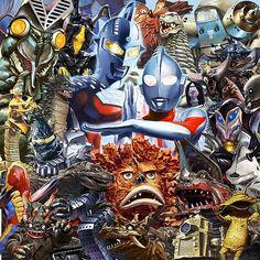 Favorite Heroes and Kaiju Japanese Superheroes, Japanese Monster, Monster Illustration, Vintage Horror, Fantasy Movies, Cultura Pop, Classic Tv, Geek Culture, Godzilla