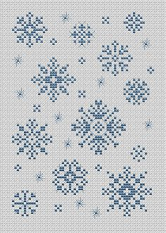 Snowflakes - pattern at: http://www.123stitch.com/123pictures/123stitch-free-28.pdf