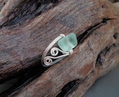 how to make jewelry with sea glass | Sea glass jewelry, Seafoam green sea glass nugget and sterling silver ...