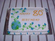 80th+Birthday+cake!