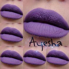 Billedresultat for kat von d ayesha lipstick Lipstick Swatches, Lipsticks, Kat Von D Lipstick, Purple Lipstick, Lip Art, Pretty In Pink, Make Up, Nails, Vegan