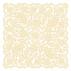For the table markers - Anna Griffin® Cream Lace Mylar