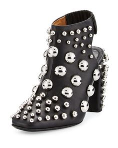 Alexander Wang Ellery Studded Leather Bootie, Black