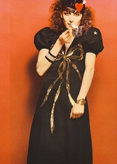 Angelica Huston getting ready for the holidays, 1971 by Bob Richardson