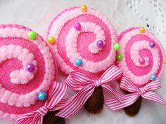 Lollipops felt pins