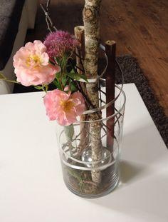 Glaszylinder mt natürlicher Dekoration - gesendet von Christine Pfeil