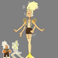 Sapphire Steven Universe, Steven Universe Fan Fusions, Steven Universe Characters, Steven Universe Movie, Superhero Characters, Fictional Characters, Black Butler Funny, Universe Images, Yellow Pearl