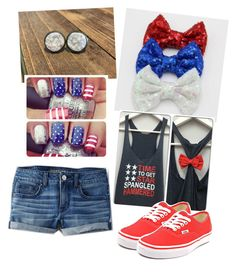 """""""Red, white and hammered! Celebrating 4th of July right!"""" by saram0223 on Polyvore featuring American Eagle Outfitters and Vans"""