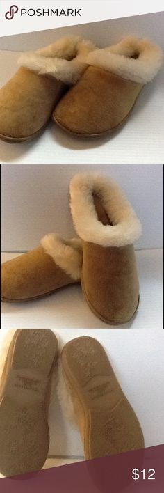 Charter Club Tan Clog Slippers Brand new in original box. Made by Charter club in a micro velour with fur inside lining. Charter Club Shoes Slippers