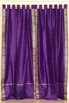 purple drapes for my purple dream house! Purple Love, Purple Lilac, All Things Purple, Shades Of Purple, Deep Purple, Purple Stuff, Purple Home Decor, Purple Curtains, Purple Rooms