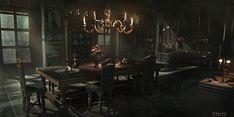 Dark Mansion Kitchen Thief Nicolas Ferrand Art Concept art Environment concept art