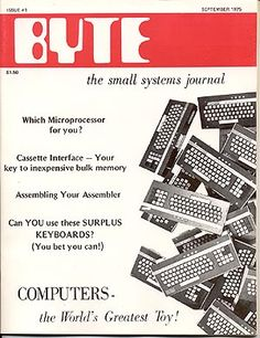 First Issue of BYTE Magazine, Sept 1975