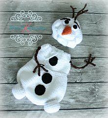 Olaf Cocoon & Hat #crochetpattern #frozen