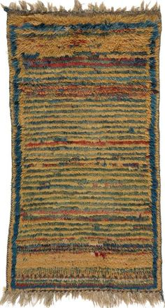 """Gabbeh 3'2"""" x 5'11"""" Circa 1900 South Persia Ref no. 1619 {rugs, carpets, traditional, home collection, decor, warp & weft}"""