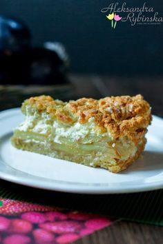 Apple Pie with Vanilla Pudding Polish Recipes, Polish Food, Apple Pie, Sweet Tooth, Vanilla, Pudding, Baking, Tiramisu, Cakes