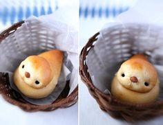 Birdie shaped sweet bread #bird #bread