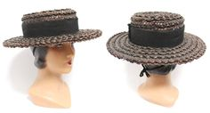 Antique Original Gibson Girl Style Straw Ladies by WearingHistory, $75.00